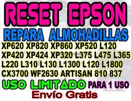 reset epson l365 mercadolibre reset almohadilla epson xp620 l220 l365 xp320 420 xp330 l120 s 20