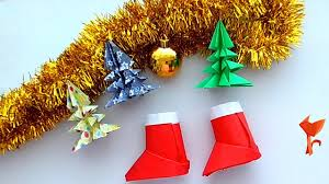 how to make santa claus boots paper origami for beginners easy
