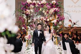 wedding arch kl st regis kl wedding jia ming whey jinn s wedding day st regis