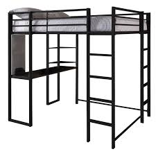 Loft Bed Full Size With Desk Amazon Com Dhp Abode Full Size Loft Bed Metal Frame With Desk And