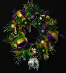 mardi gras feather boas wreathsbyrobin artfire shop gallery