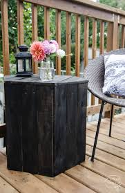 Patio Furniture Out Of Wood Pallets by Diy Hexagon Side Table Pallet Challenge Lemon Thistle