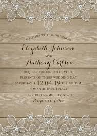 wood wedding invitations wood lace wedding invitations vintage luxury cards