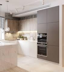 kitchen oak wood kitchen cabinet nice grey white marble kitchen