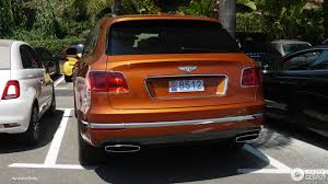 orange bentley bentayga bentley bentayga 13 july 2016 autogespot