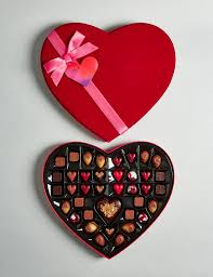 heart box of chocolates large heart box of chocolates m s