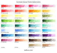 kuretake gansai tambi watercolor palette 36 color set kuretake