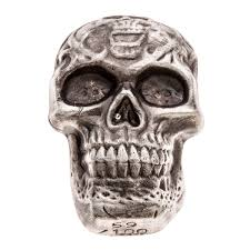 Celtic Skull - beaver bullion limited edition silver celtic skull 5 oz 999