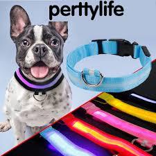 collar light for small dogs perttylife shinning flash pet collar glow dog collar shine anti lost