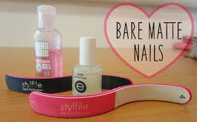 how to bare matte nails copperpink