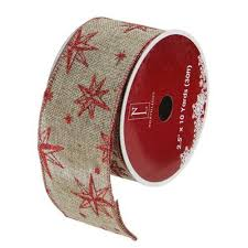 burlap wired ribbon and beige burlap wired christmas craft ribbon 2 5 x 10
