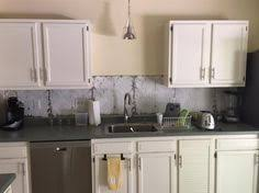 wallpaper backsplash kitchen shiplap peel and stick wallpaper used as a kitchen backsplash
