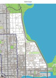 Chicago Neighborhood Maps by Map Of Building Projects Properties And Businesses In Gold Coast