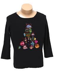 womens ugly christmas sweater shirt burns womens