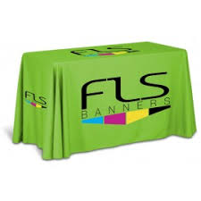 Custom Table Cloths by 4 Foot Table Covers Custom Tablecloths For Trade Shows