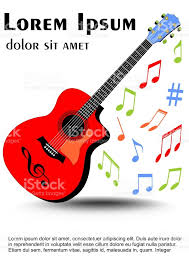 imagenes de notas musicales a color guitarra multicolor de colores vivos color desigual distribuido