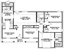 one floor house plans 4 bedroom 3 bath house plans one story nrtradiant