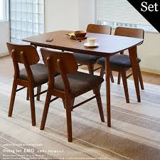 retro kitchen table and chairs set prs rakuten global market hang walnut dining table chairs