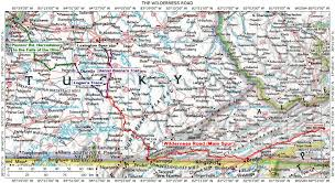 Tennessee On The Map by Historic Roads Paths Trails West Virginia Tennessee Kentucky