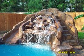 Backyard Waterfall Ideas by Pool Waterfall And Slide Pools Pinterest Pool Waterfall