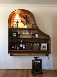 tiefes regal vintage griffith baby grand piano book shelf wine bar by