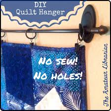 How To Hang Scarves On Curtain Rods by Yep Two Steps U2013 No Sewing Hanging Pockets Or Sleeves To The Quilt