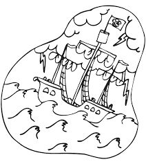 pirate ship coloring kids coloring