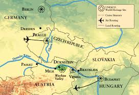 Passau Germany Map by Symphony On The Blue Danube The Ohio State University Alumni