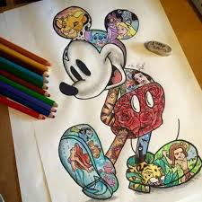138 mickey minnie images cartoons drawings