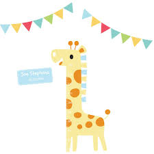 giraffe height chart wall stickers parkins interiors giraffe height chart wall stickers