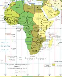 Horn Of Africa Map by Africa Time Zones U2022 Mapsof Net