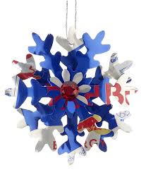 bull energy drink snowflake personalized ornament