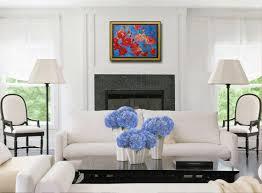 red poppy flower painting original art 18x24