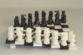 unique chess pieces marble alabaster chess sets