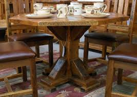 barn wood octagon dining table southern creek rustic furnishings