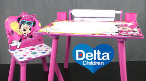 Mickey Mouse Table And Chairs by Minnie Mouse Art Desk From Delta Children U0027s Products Youtube