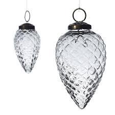 glass pinecone ornament accent decor
