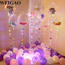 party supplies weigao diy birthday party decoration helium bobo balloons unicorn