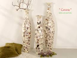 Capiz Vase Cabana Designer Vase Mit Perlmutt Höhe 80 Cm Shell Collection