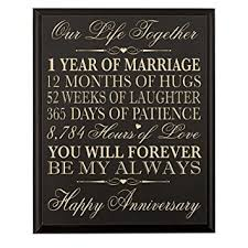 1st wedding anniversary gifts for him 1st wedding anniversary wall plaque gifts for