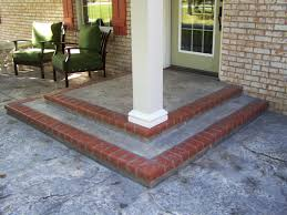 Patio Floor Design Ideas Cement Front Porch Customized Front Porch Makeover Baluster