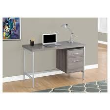 Corner Computer Desk Target Computer Desk With Drawers Silver Metal Taupe Everyroom