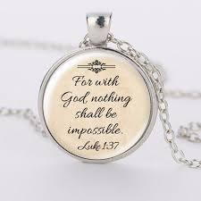 bible verse jewelry for with god nothing shall be impossible bible verse jewelry by