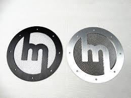miata logo carbonmiata aluminium speaker covers set of 2 mazda miata mx 5