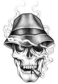 skull smoke tattoos images