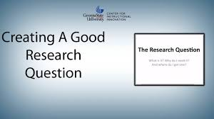 how to write purpose of study in research paper creating a good research question youtube