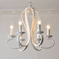 Simple Chandelier Simple 6 Light Modern Chandeliers Cheap Painting Gray White