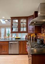 Glass Cabinets Kitchen by Pass Trough Kitchen With Double Sided Cabinets This Pass Through