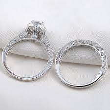 wedding set newshe jewellery 2 4 carat white cz 925