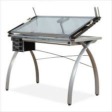 Drafting Table With Light Box This Drawing Table Has Stylish Heavy Gauge Steel Legs And Frame